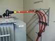 Frame for medium-voltage transformer bridges