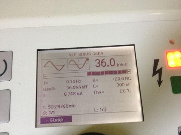 VLF test up to 60kV