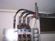 Low-voltage transformer bridges at distribution from above
